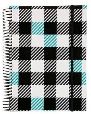 Caderno Universitário 200 Folhas Xadrez