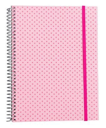 Caderno Universitário 200 Folhas Poá Rosa