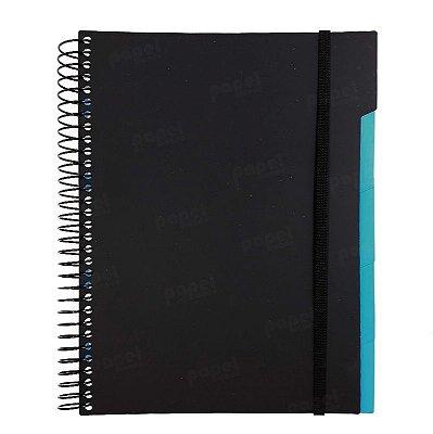 Caderno c/ Divisórias Removíveis 192 Folhas Preto