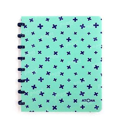 Caderno de Discos Pastel A5 Verde e Azul