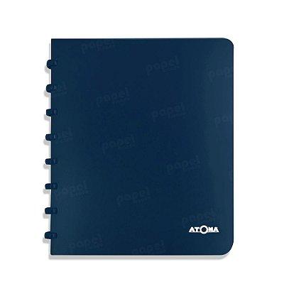 Caderno de Discos Azul Marinho Liso A5