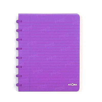 Caderno de Discos Roxo Transparente A5