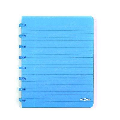 Caderno de Discos Azul Transparente A5