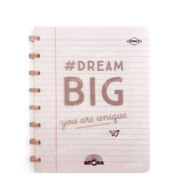 Caderno de Discos Cobre Dream Big A5