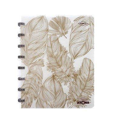 Caderno de Discos Pattern Dourado A5
