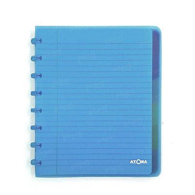 Caderno de Discos Azul Transparente Plus A5