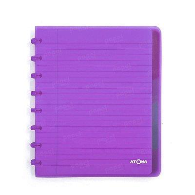 Caderno de Discos Roxo Transparente Plus A5