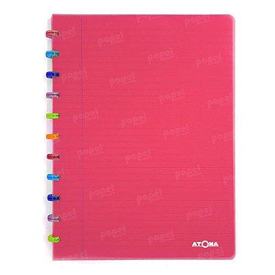 Caderno de Discos Vermelho Tutti Frutti A4
