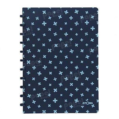 Caderno de Discos A4 Azul Estampado