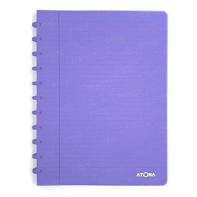 Caderno de Discos Lilás Transparente A4