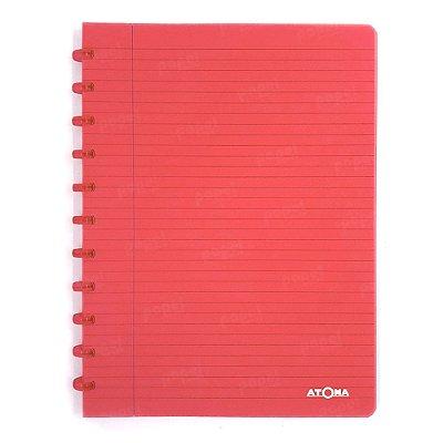 Caderno de Discos Vermelho Transparente A4