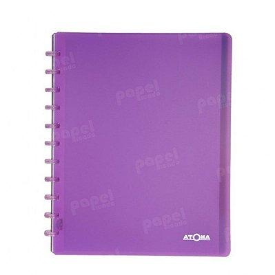 Caderno de Discos Roxo Transparente Plus A4