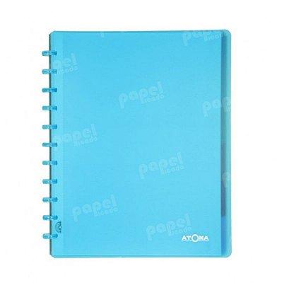 Caderno de Discos Azul Transparente Plus A4