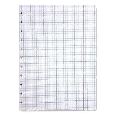 Refil Caderno de Discos Quadriculado A4