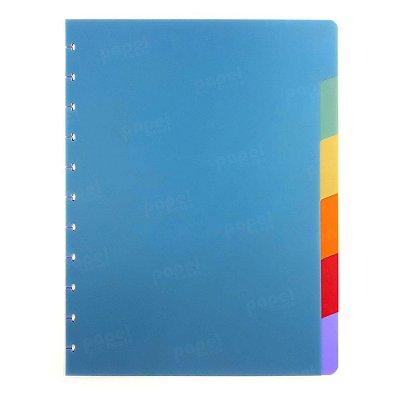 Divisórias Coloridas Caderno de Discos A4