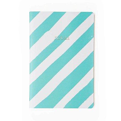 Caderninho brochura Quadriculado Azul Sem Pauta