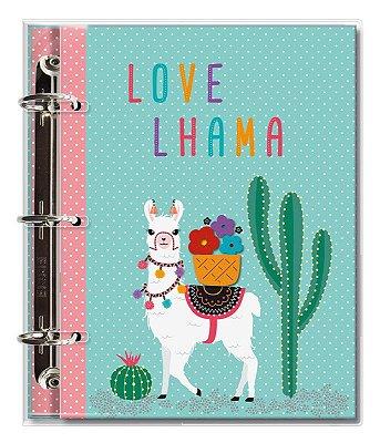 Caderno Fichário 3 Furos Lhama