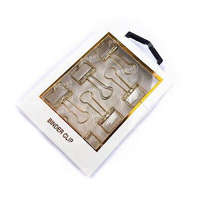 Binder Dourado Transparente