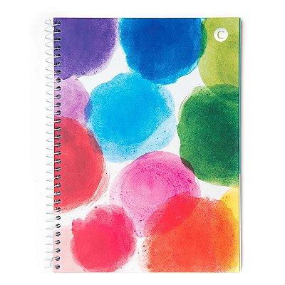 Caderno Universitário Machas Coloridas