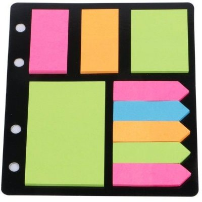 Cartela Post-it Blocos e Marcadores Neon