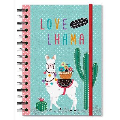 Caderno Midi Pontilhado Lhama