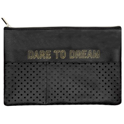 Necessaire Preta Grande Dare To Dream