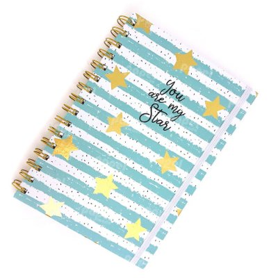 Caderno Midi Star Azul Pautado
