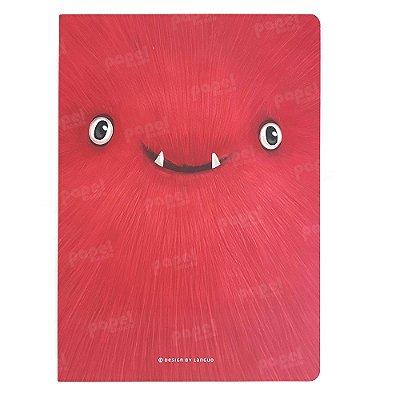 Caderninho Brochura Monstros Vermelho