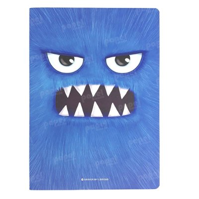 Caderninho Brochura Monstros Azul