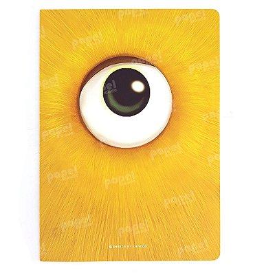 Caderninho Brochura Monstros Amarelo