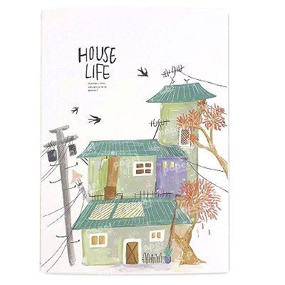 Caderninho Brochura Casa Verde