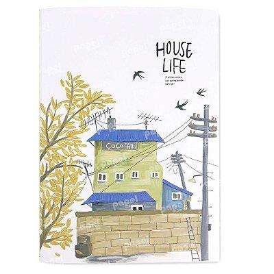 Caderninho Brochura Casa Amarela