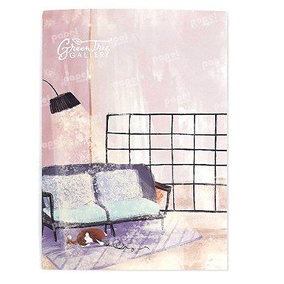 Caderninho Brochura Pintura Gato