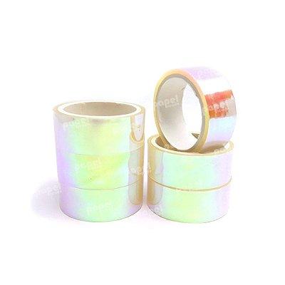 Fita Adesiva Washi Tape Holográfica