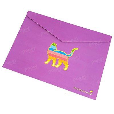 Pasta Envelope Gato lilás