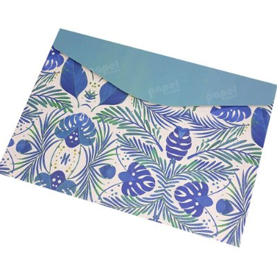 Pasta Envelope Nature Azul