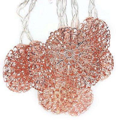 Varal de Luz Flor Rosé
