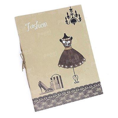 Caderno Brochura Kraft Manequim Marrom