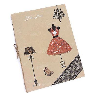 Caderno Brochura Kraft Manequim Vermelho