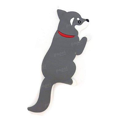 Ímã Magnético com Gancho Cachorro Cinza