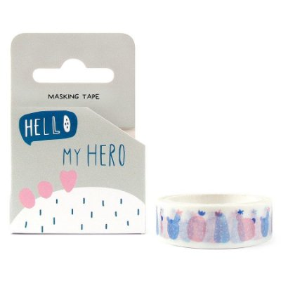 Fita Adesiva Washi Tape Cacto Hello My Hero