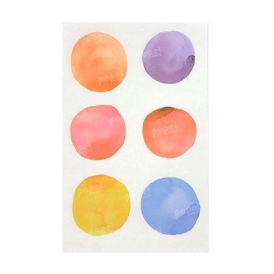Adesivo Aquarela 4 Cartelas Colorido