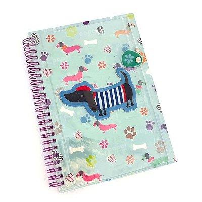 Caderno Espiral Com Bolso Cachorro