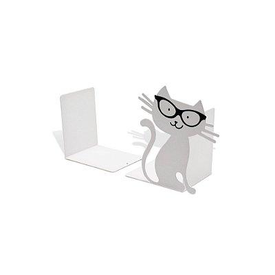 Aparador de Livro Gato Branco