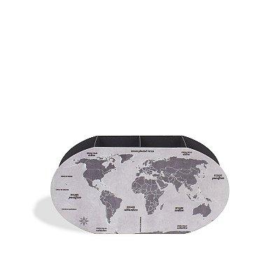 Porta Lápis Mapa Mundi