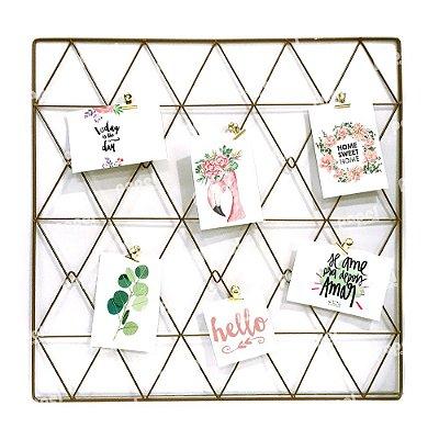 Memory Board Ouro Triângulo