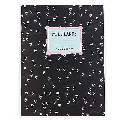 Caderno Max Corações Mil Planos