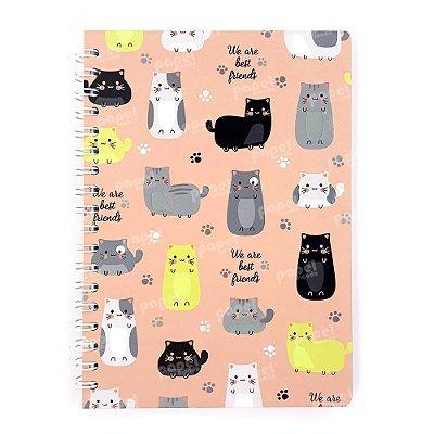 Caderno Espiral Gatos