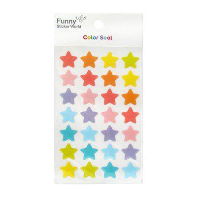 Adesivo Estrelas Coloridas Grandes