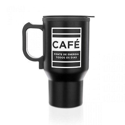 Caneca Elétrica Aquecível Café Energia